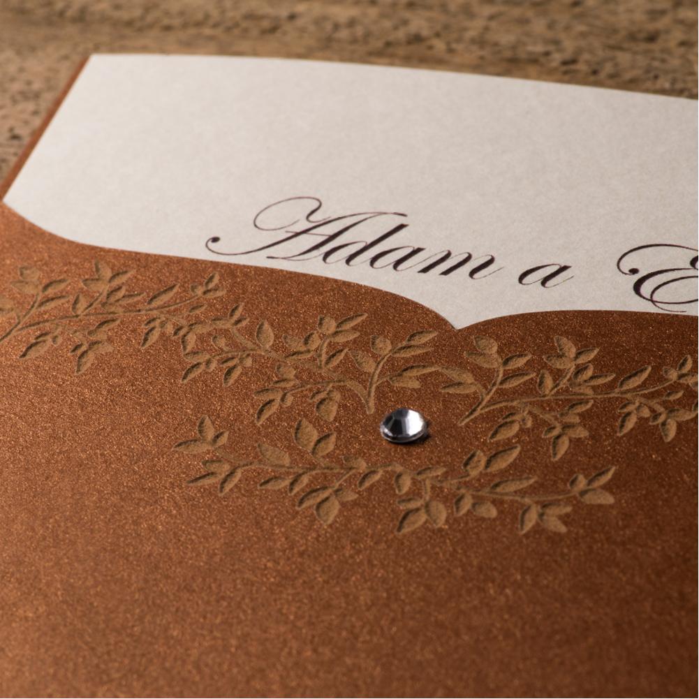 Ručne zdobené svadobné oznámenie