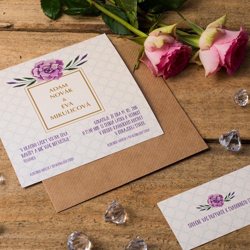 Svadobné oznámenie s florálnym motívom