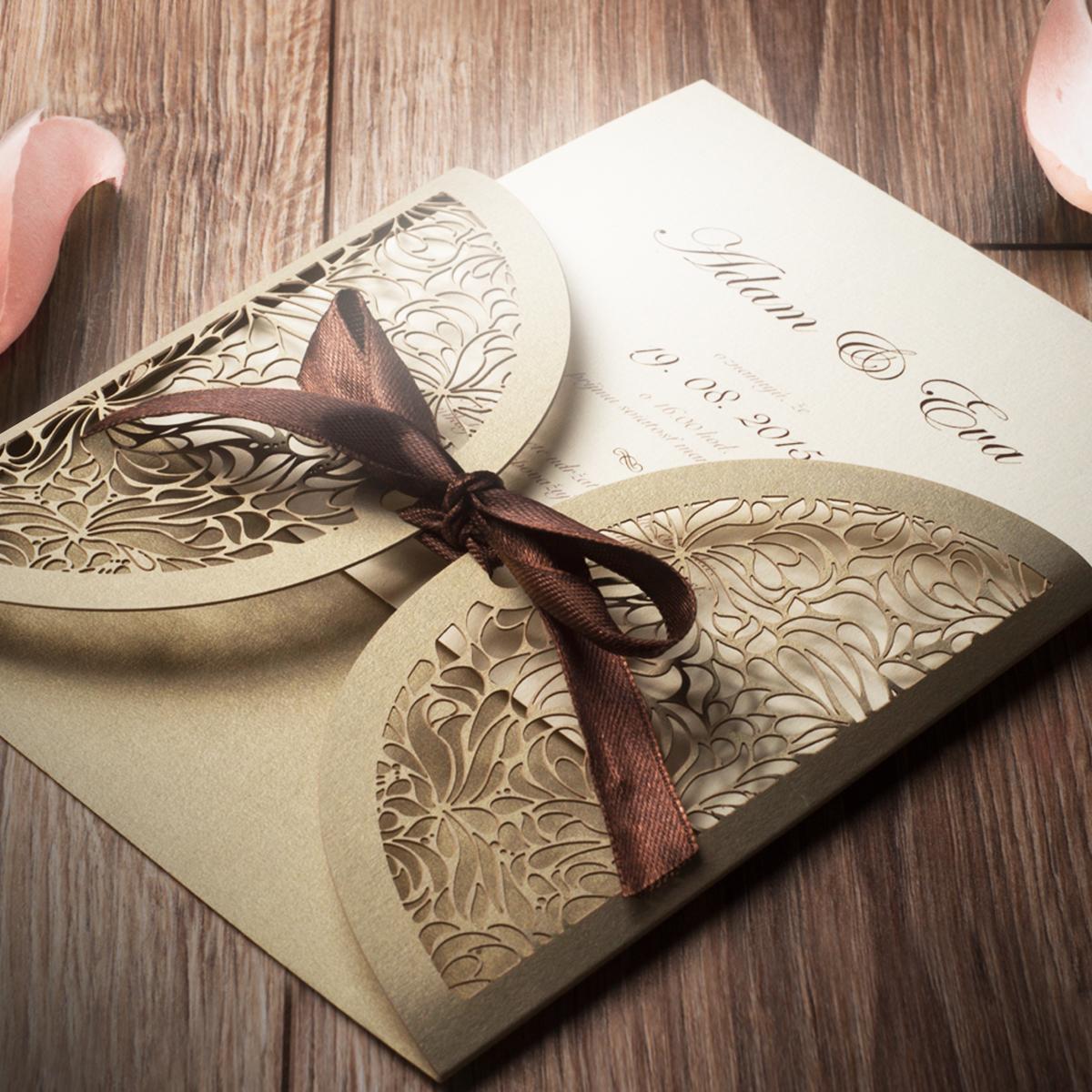 Svadobné oznámenie s mašľou