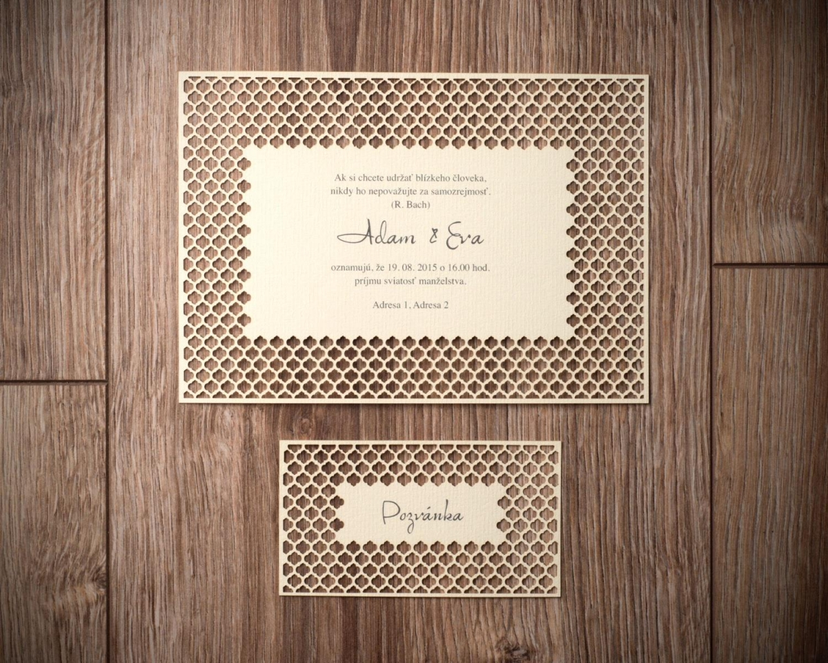efektné zdobenie papiera pozvánky