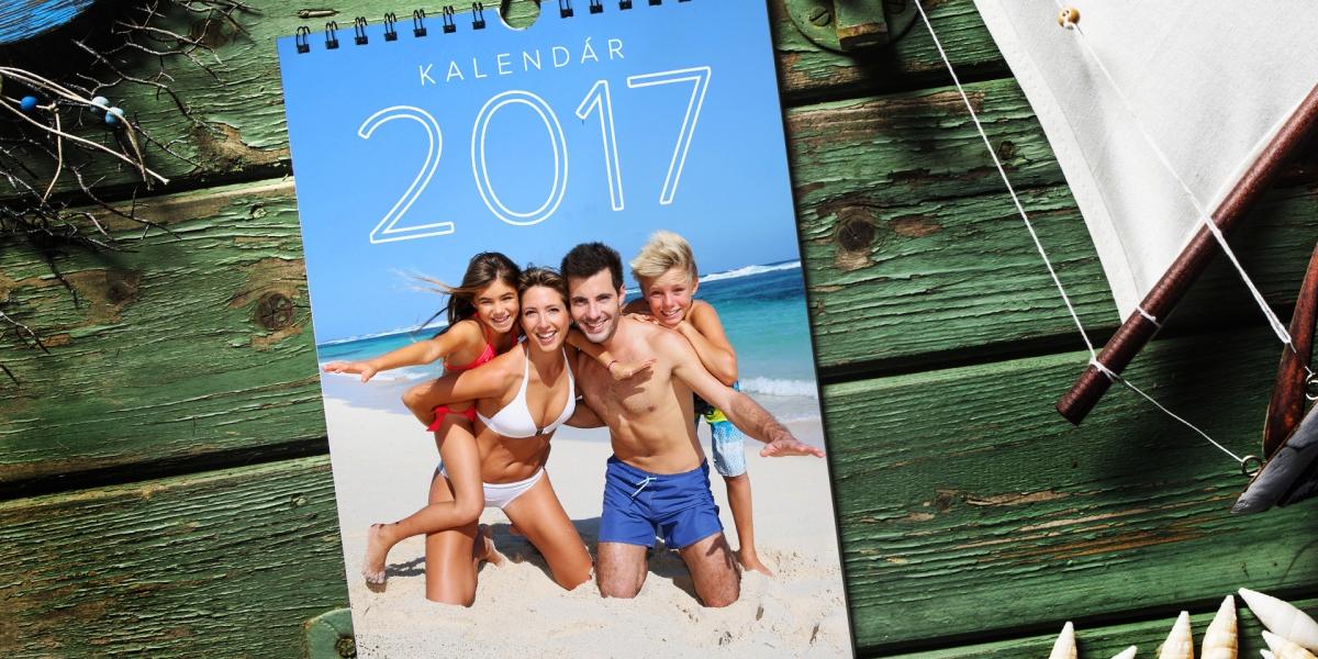 Tlač kalendára s vlastnými fotografiami - Letná dovolenka